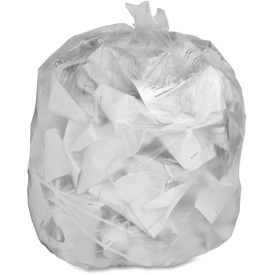 "Genuine Joe Trash Can Liner, 30 Gallon, 0.60 Mil, 30""x36"", Clear, 250/Pk,... by"