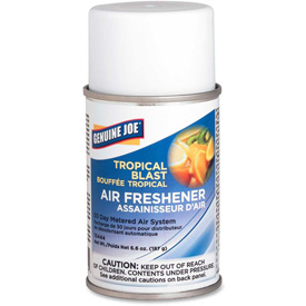 Genuine Joe Metered Air Freshener, Aerosol Can, Tropical Blast - GJO10444