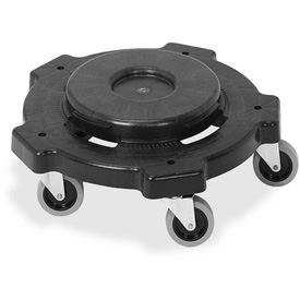 Genuine Joe Round Dolly 32 or 44 Gal. Black - GJO11586
