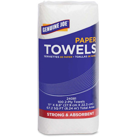 """Genuine Joe Household Roll Paper Towels 2 Ply 9"""" x 11"""", 100 Sheets/Roll 24... by"""