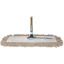 "Genuine Joe Dust Mop, w/ Handle, 24"" Frame, 60"" Handle, GJO54101"