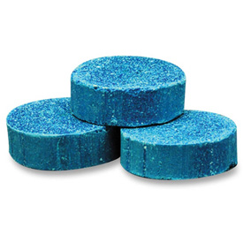 Genuine Joe Toss Blocks w/Blue Dye, Non-Para - Cherry Scent, 12/Pk, GJO58333