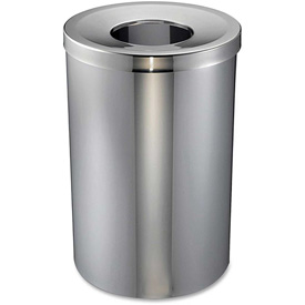 Genuine Joe Open Mouth Waste Receptacle 30 Gal. Stainless Steel - GJO58895