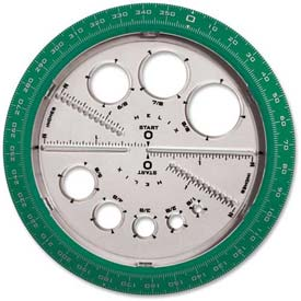 Helix Angle & Circle Protractor, 36002, Plastic, Assorted