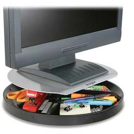 "Buy Kensington Spin Monitor Stand, 60049, W/Supply Storage, 14"" X 14"" X 3-1/2"", Black"