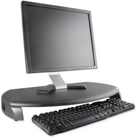 "Kantek CRT/LCD Stand W/Keyboard Storage, MS280B, 23"" X 13-1/4"" X 3"", Black"