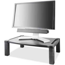 "Kantek Monitor Stand Deluxe, MS500, Wide, 20"" X 13-1/4"", Adjust, Black"