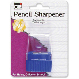 CLI Pencil Sharpener, w/ Cone Receptacle, Assorted by