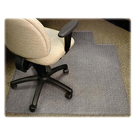 """Lorell® Anti-Static Office Chair Mat for Carpet - 48""""L x 36""""W, 0.38"""" Thick with Lip - Beveled"""