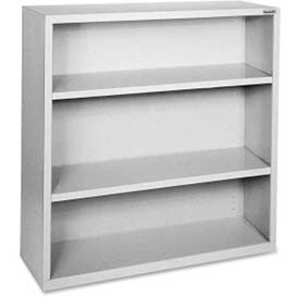 "Lorell Fortress Series 3-Shelf Bookcase, LLR41283, 13""W x 34-1/2""D x 42""H, Light Gray"
