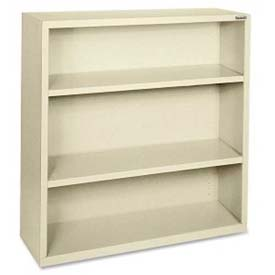 "Lorell Fortress Series 3-Shelf Bookcase, LLR41284, 13""W x 34-1/2""D x 42""H, Putty"
