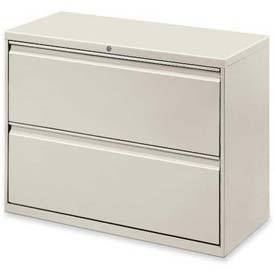 "Lorell® 2-Drawer Lateral File Cabinet, 36""W x 18-5/8""D x 28""H, Gray"