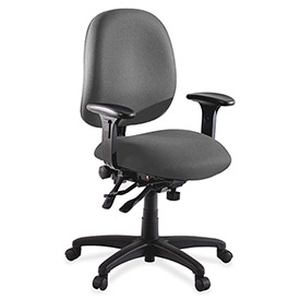 "Lorell® High Performance Task Chair, 27-1/4""W x 25-1/4""D x 41-1/2""H, Gray"