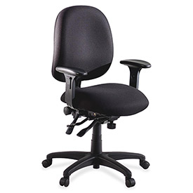 "Lorell® High Performance Task Chair, 27-1/4""W x 25-1/4""D x 41-1/2""H, Black"