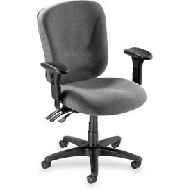 "Lorell® Accord Mid-Back Task Chair, 26-3/4""W x 26""D x 42""H, Gray"