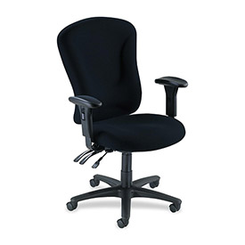"Lorell® Accord Managerial Task Chair, 26-3/4""W x 26""D x 51""H, Black"
