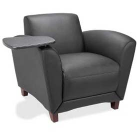 Lorell Club Chair, LLR68953, Leather, Black