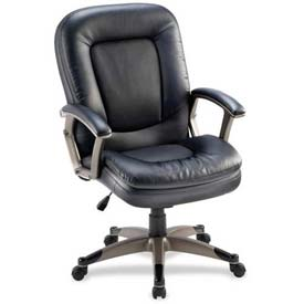 "Lorell® Mid-Back Management Chair, 27""W x 32-1/2""D x 43-1/2""H, Black"