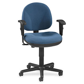 "Lorell® Millenia Pneumatic Adjustable Task Chair, 24""W x 24""D x 38""H, Blue"
