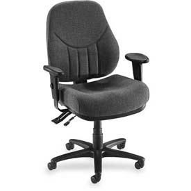 "Lorell® Baily High-Back Multi-Task Chair, 27""W x 28""D x 44""H, Gray"