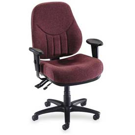 "Lorell® Baily High-Back Multi-Task Chair, 27""W x 28""D x 44""H, Burgundy"