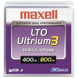 Buy Maxell LTO Ultrium 3 Tape Cartridge, MAX183900, 400/800 GB Capacity, Green