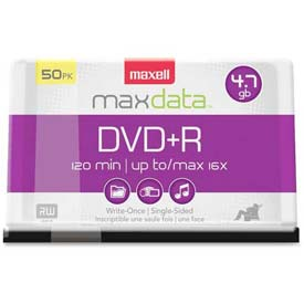 Buy Maxell DVD Recordable Media, MAX639013, DVD-R Media, 16x Speed, 4.70 GB Capcity