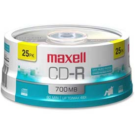 Click here to buy Maxell CD Recordable Media, MAX648445, CD-R Media, 48x Speed, 700 MB Capcity.