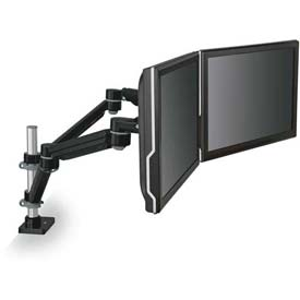 3M™ Dual Monitor Arm, MA260MB, Highly Adjustable, Black