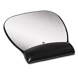 3M MW310LE Gel Wrist Rest/Mouse Pad, Non-Skid Base, Black by