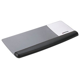 3M™ WR422LE Gel Wrist Rest Platform for Keyboard/Mouse, Black