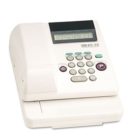 Buy MAX EC-70 Memory Electronic Check Writer, 14 Digits, 1 Column Business & Personal Checks