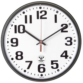 "Buy SKILCRAFT 12.75"" Atomic Slimline Clock, Black"
