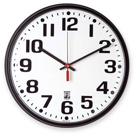 "Buy SKILCRAFT 12.75"" Black Body Selfset Wall Clock, Black"