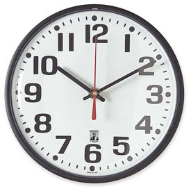 "Buy SKILCRAFT 8"" Black Body Selfset Wall Clock, Black"