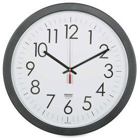 "Buy SKILCRAFT 14.5"" Round Workstation Wall Clock, Black"
