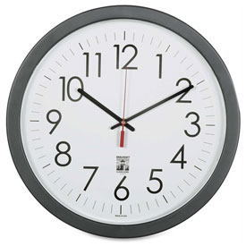 "Buy SKILCRAFT 14.5"" Round Self Set Wall Clock, Black"