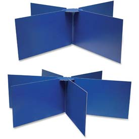 "Pacon Round Table Privacy Board, 48""x14"", Blue"