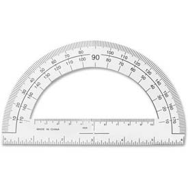 "Sparco Professional Protractor, SPR01490, 6""L, Clear, Plastic"