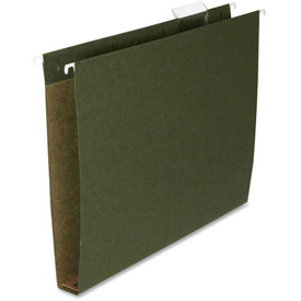 "Box Bottom Hanging File Folders, Letter, 1"" Cap, 25/Box, Green by"