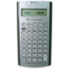 Buy Texas Instruments Business/Financial Calculator, TEXBA-IIPLUSPRO, 10 Digit Screen, Battery Power