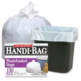 Webster Handi Bag Waste Liners - White, 8 Gallon, 0.60 Mil