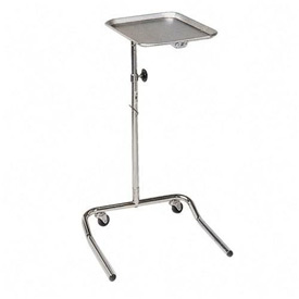 "Hausmann® Mayo Tray Stand, Adjustable Height, 24""W x 18-1/2""D x 32""-50""H, Chrome"