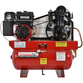 Schrader® Two-Stage Gas Powered Air Compressor SA61130B, Briggs & Stratton, 11HP, 30 Gal