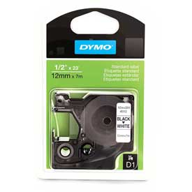 Buy DYMO D1 3/4 Inch Tape Black on White