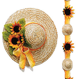 "14"" Straw Hats (pack of 6) by"