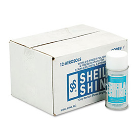 Sheila Shine Stainless Steel Cleaner And Polish, 10 Oz. Aerosol 12/Case - SHE1CT