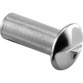 "One Way Barrel Nut, #10-24 X 5/8"", Chrome Each Package Count 100 by"