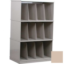 Stackbin® Three-Shelf X-Ray Storage Cabinet, Beige