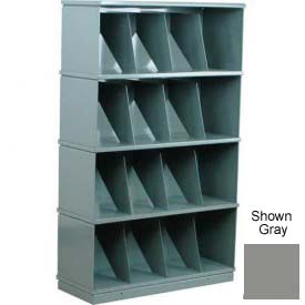Stackbin® Four-Shelf Medical Record Storage Cabinet, Gray